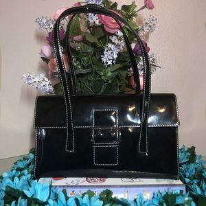 Preloved! Nine West Black Glossy Bag